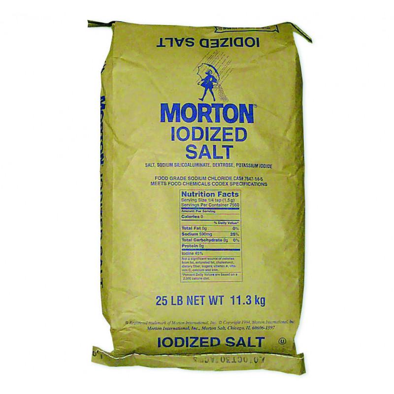 Sweet Gourmet SweetGourmet Iodized Table Salt (Morton) 25lb