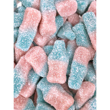 SweetGourmet Sour Mini Bottles gummy pink and blue