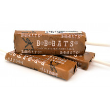 SweetGourmet Chocolate BB Bats Classic Taffy Candy Pops