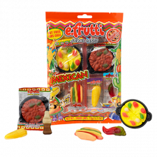 SweetGourmet E.Frutti Mexican Dinner Gummi Theme Bag, 2.7oz