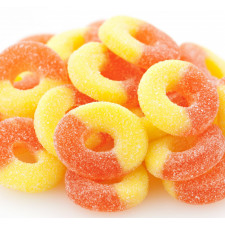 SweetGourmet Albanese Gummi Rings, Peach