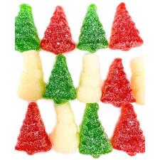 SweetGourmet Christmas Gummi Snowmen & Trees with Snow
