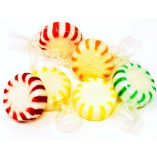 SweetGourmet Arcor Assorted Fruit Starlights White Center Wrapped Hard Sucking Candy-Bulk