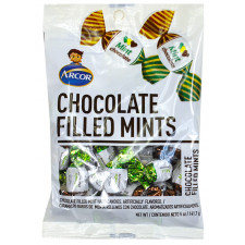 SweetGourmet Arcor Chocolate Filled Mint  Hard Candy-Peg Bags