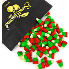 SweetGourmet Holiday Candy Corn Red, White & Green | Bulk Christmas Candy