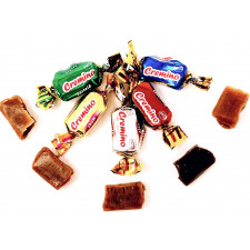 SweetGourmet Arcor Assorted Soft Toffee Candy Vanilla, Chocolate, Mint, Coffee & Maple Wrapped - Bulk