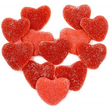 SweetGourmet Kervan Gummy Sanded Red Hearts