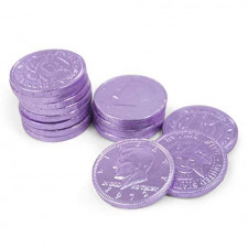 SweetGourmet Purple Chocolate Coins