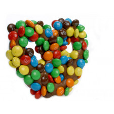 SweetGourmet Milk Chocolate Gourmet Pretzels with M&Ms