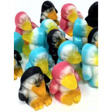 SweetGourmet 3D Fruit Gummi Penguins with Soft Tummies