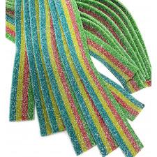 SweetGourmet Sour Blast Rainbow Belts Candy 150 PCS