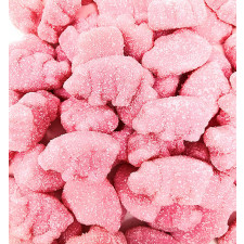 SweetGourmet Sour Strawberry Pink Piglets Gummy