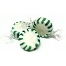 SweetGourmet Arcor Spearmint Starlights White Center Wrapped Hard Sucking Candy-Bulk
