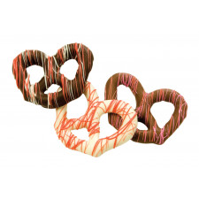 SweetGourmet Valentine's Gourmet Milk Chocolate Pretzels with Red/White String