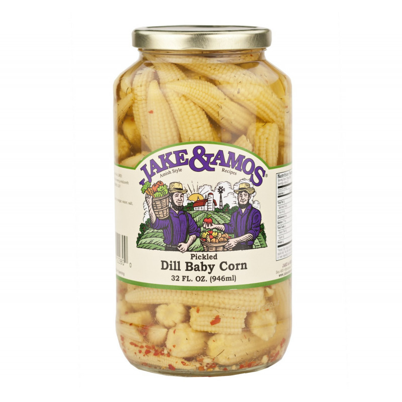 SweetGourmet Jake & Amos® J&A Pickled Dill Baby Corn 12/32oz