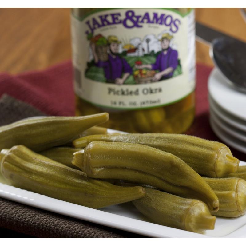 SweetGourmet Jake & Amos® J&A Pickled Okra 12/32oz