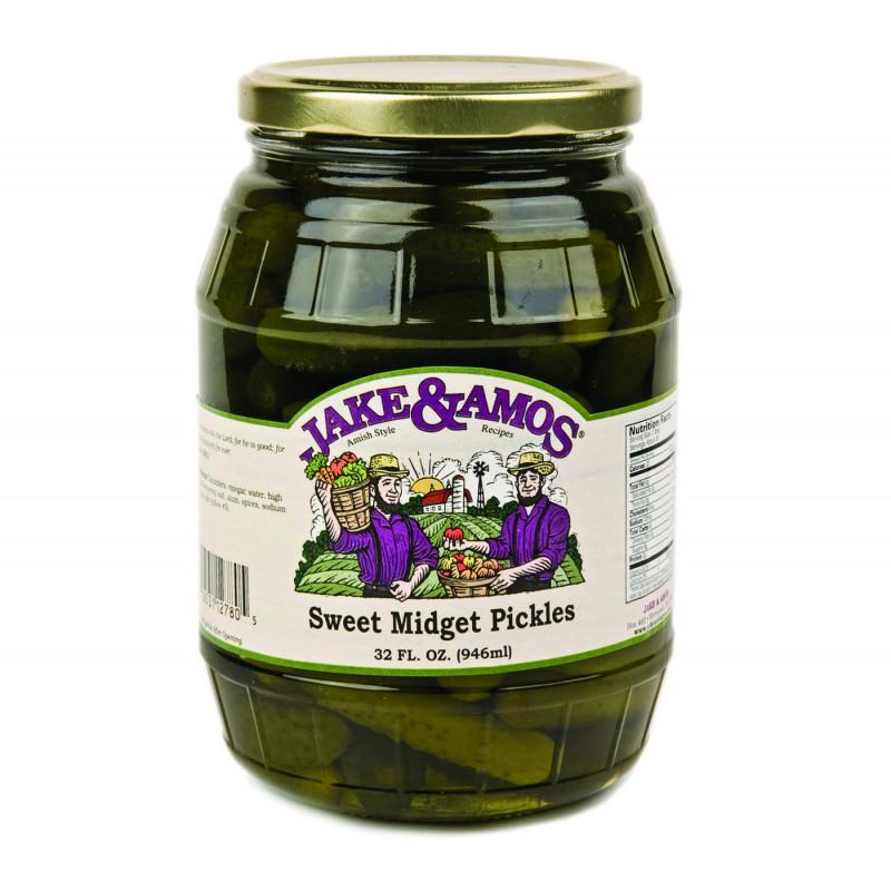 SweetGourmet Jake & Amos® J&A Sweet Midget Pickles 12/32oz