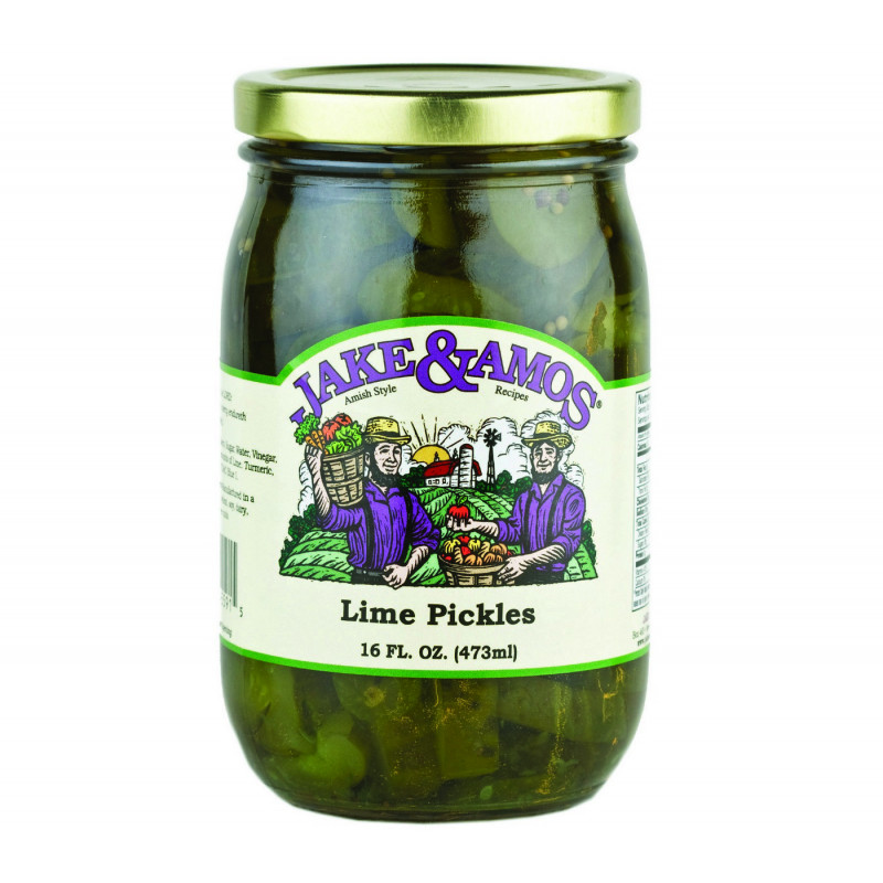 SweetGourmet Jake & Amos® J&A Lime Pickles 12/16oz